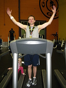 Jordan's 2013 treadmill half marathon