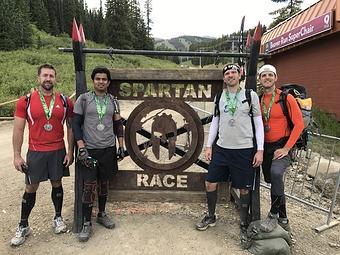 Spartan Trifecta weekend at Breckenridge, CO with Paul Goodenough, Yomesh Sharma, Jordan Dayton, and Matt Dayton (Spartan Beast a   Sprint!)